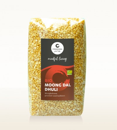 Organic Moong Dal Dhuli - moong beans, peeled and split 500g