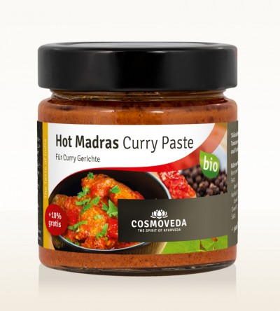 Organic Hot Madras Curry Paste 175g