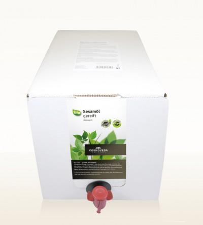 Organic Sesame Oil ripened 5 Liter