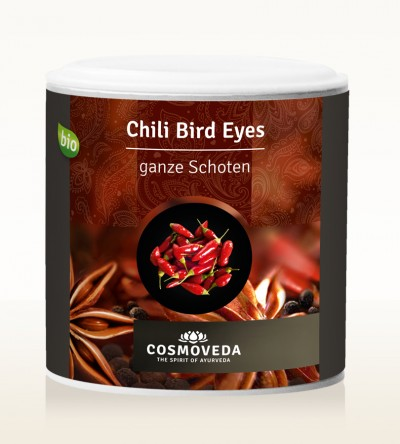 Organic Chili Bird Eyes pods 30g