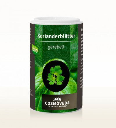 Organic Coriander Leaves, shredded (can) 5g