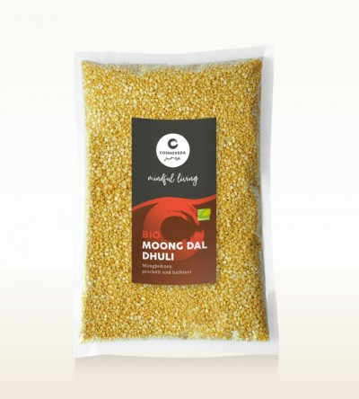 Organic Moong Dal Dhuli - moong beans, peeled and split 1kg