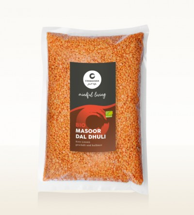 Organic Masoor Dal Dhuli - red lentils, peeled and split 10kg