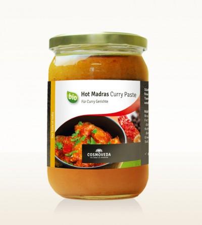 BIO Hot Madras Curry Paste 600g