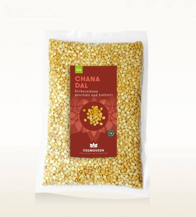 Organic Chana Dal - chickpeas, peeled and split 2,5kg