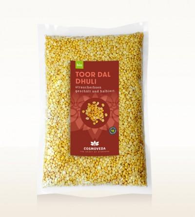 BIO Toor Dal Dhuli - Straucherbsen, geschält und halbiert 2,5kg