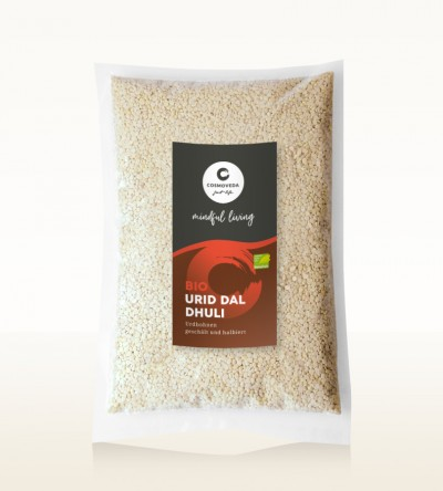 Organic Urid Dal Dhuli - white lentils, peeled and split 1kg