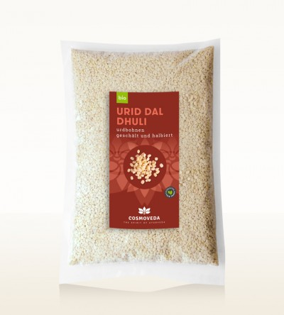 Organic Urid Dal Dhuli - white lentils, peeled and split 5kg
