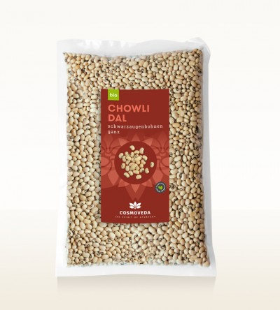 BIO Chowli Dal - Schwarzaugenbohnen, ganz 2,5kg
