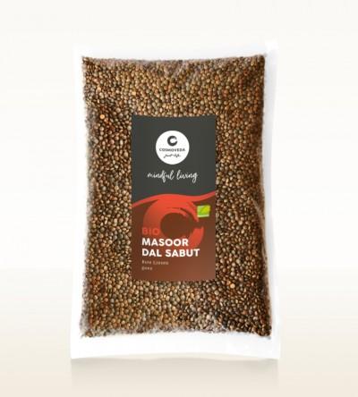 Organic Masoor Dal Sabut - red lentils, whole 1kg