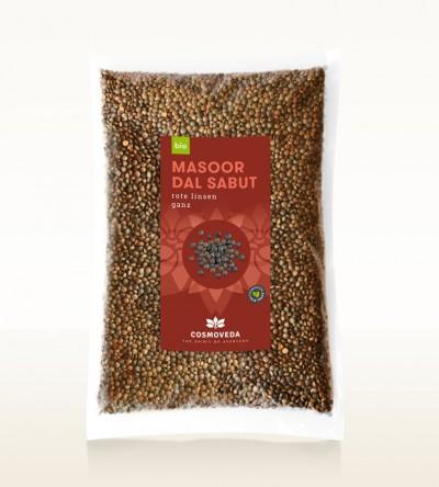 BIO Masoor Dal Sabut - Rote Linsen, ganz 2,5kg