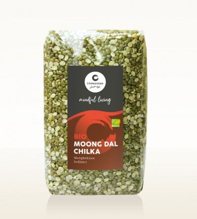 Organic Moong Dal Chilka - moong beans, split 500g