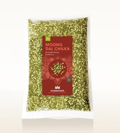 BIO Moong Dal Chilka - Mungbohnen, halbiert 2,5kg