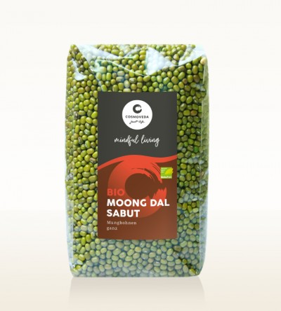 Organic Moong Dal Sabut - moong beans, whole 500g