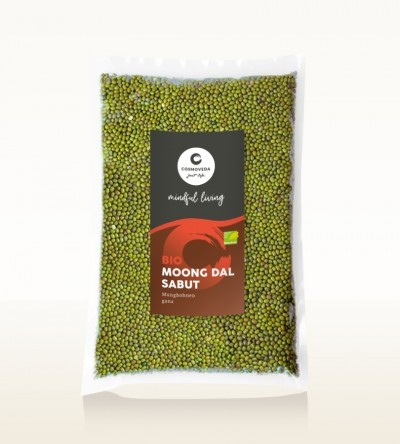 Organic Moong Dal Sabut - moong beans, whole 1kg