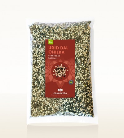 Organic Urid Dal Chilka - urid beans, split 2,5kg