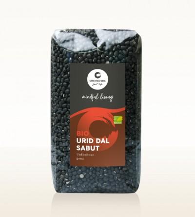Organic Urid Dal Sabut - urid beans, whole 500g