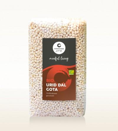Organic Urid Dal Gota - urid beans, whole, peeled 500g