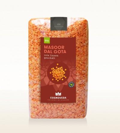 BIO Masoor Dal Gota - Rote Linsen geschält, ganz 500g