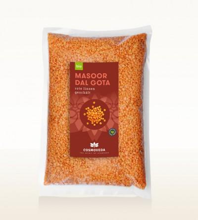 Organic Masoor Dal Gota - red lentils peeled, whole 1kg