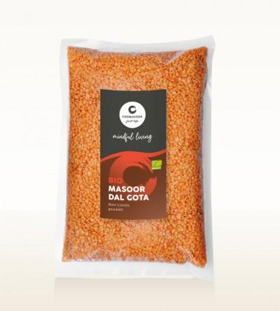 BIO Masoor Dal Gota - Rote Linsen geschält, ganz 2,5kg