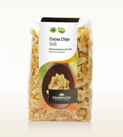 Organic Coconut Chips, toasted and sweetened 125g