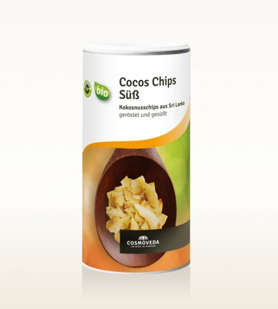Organic Coconut Chips, toasted and sweetened 325g