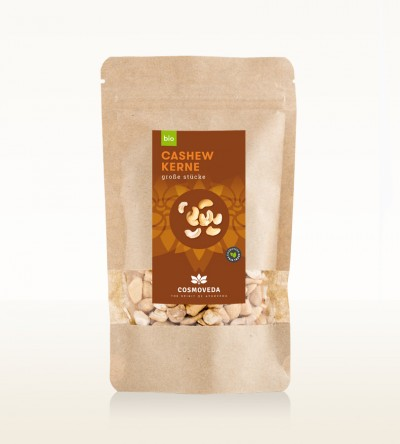 Organic Cashew Nuts large Pieces 100g