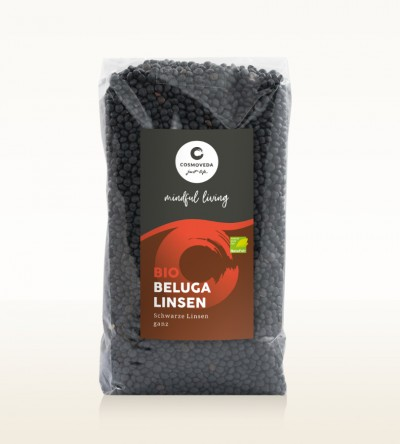 Organic Beluga Lentils whole 500g