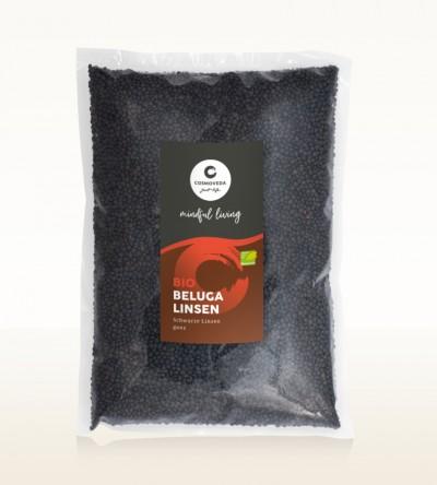 Organic Beluga Lentils whole 1kg