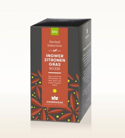 Organic Ginger Lemongrass Tea 25 x 1.8g
