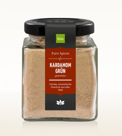 Organic Cardamom green ground glass 70g