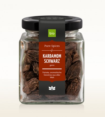 Organic Black Cardamom glass 60g