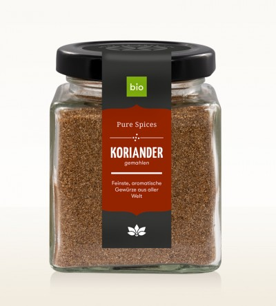 Organic Coriander ground glass 80g