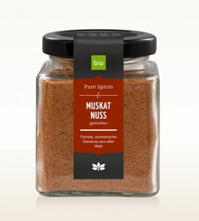 Organic Nutmeg ground glass 90g