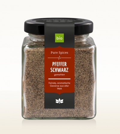 Organic Pepper black ground glass 100g