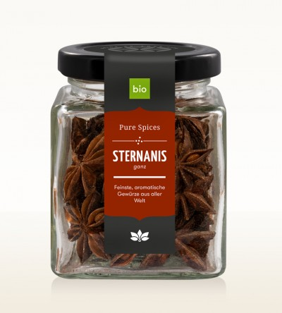 Organic Star Anise whole glass 35g