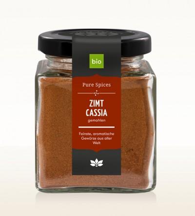 Organic Cinnamon Cassia ground glass 80g