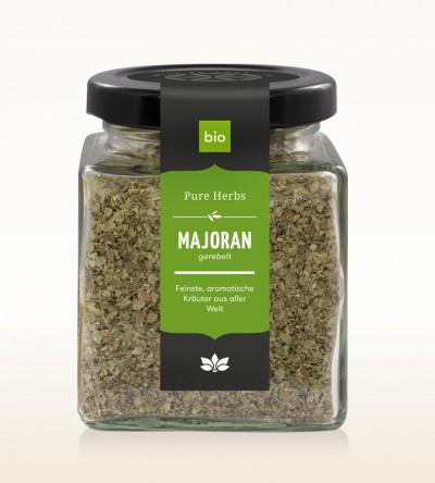 Organic Marjoram shredded glass 20g