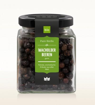 Organic Juniper berries whole Glas 70g