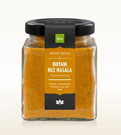 Organic Biryani Rice Masala glass 90g