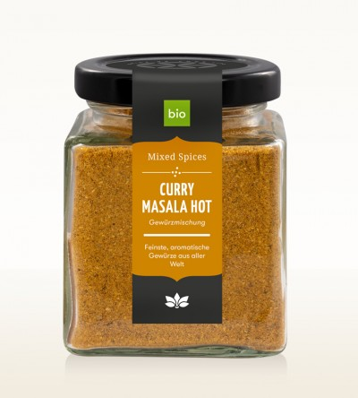 BIO Curry Masala hot Glas 90g