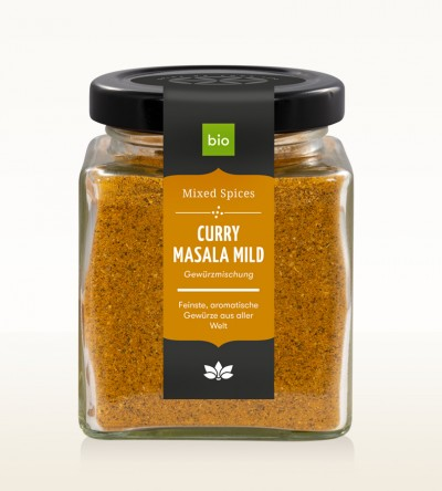 Organic Curry Masala mild glass 90g