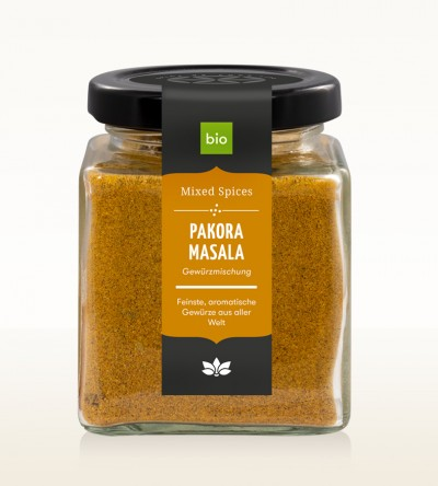 Organic Pakora Masala glass 80g