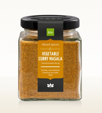 BIO Vegetable Curry Masala Glas 90g