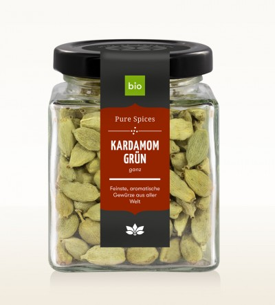 Organic Cardamom green whole glass 60g