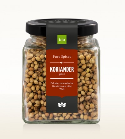 Organic Coriander whole glass 60g