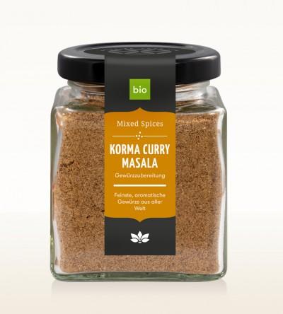Organic Korma Curry Masala glass 80g