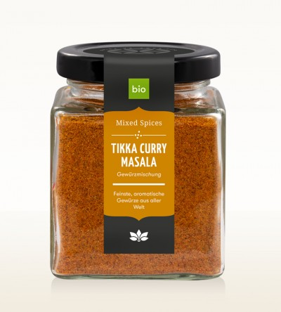 Organic Tikka Curry Masala glass 80g