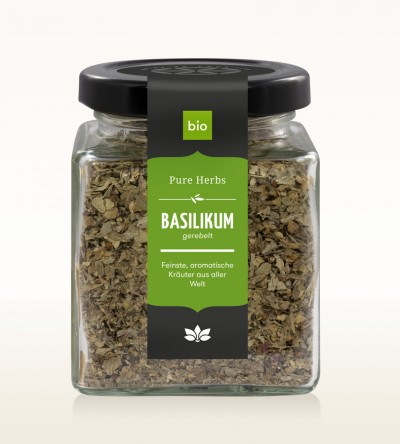 Organic Basil shredded glass 30g